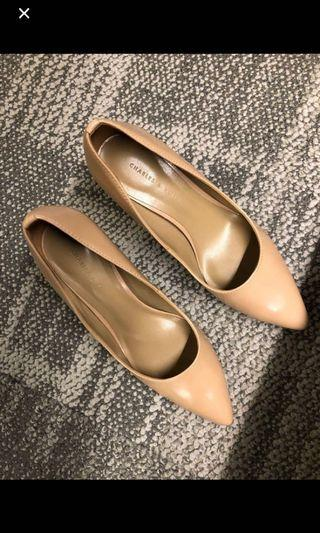 Charles & Keith Heels in Taupe Colour