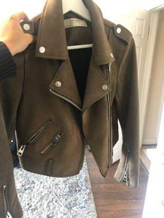 Zara brown suede jacket