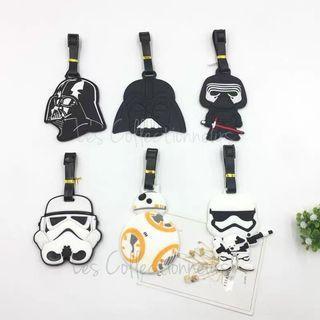 Star Wars Luggage Tag Stormtrooper Darth Vader Kylo Ren BB-8 Bag Tags Name Tag