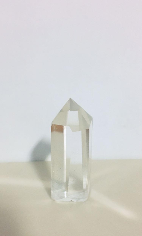 白水晶柱/高5.5cm/厚2.5cm