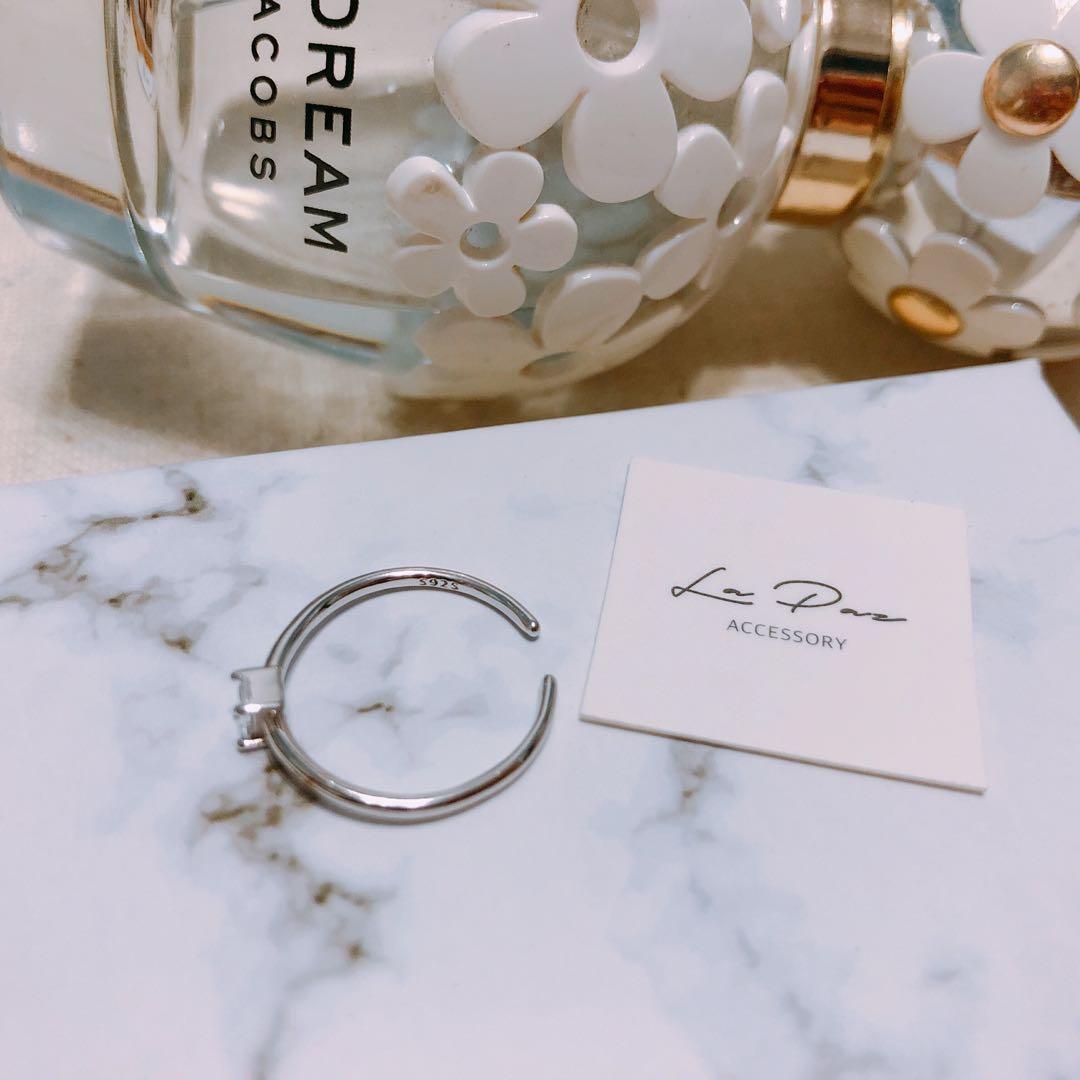 全新925純銀戒指 氣質方鋯石