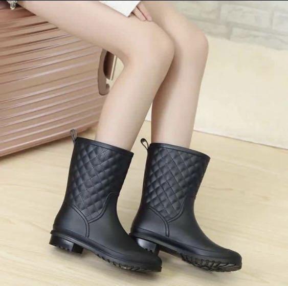 時尚雜誌款英倫小香風雨靴(代購,團購預購)
