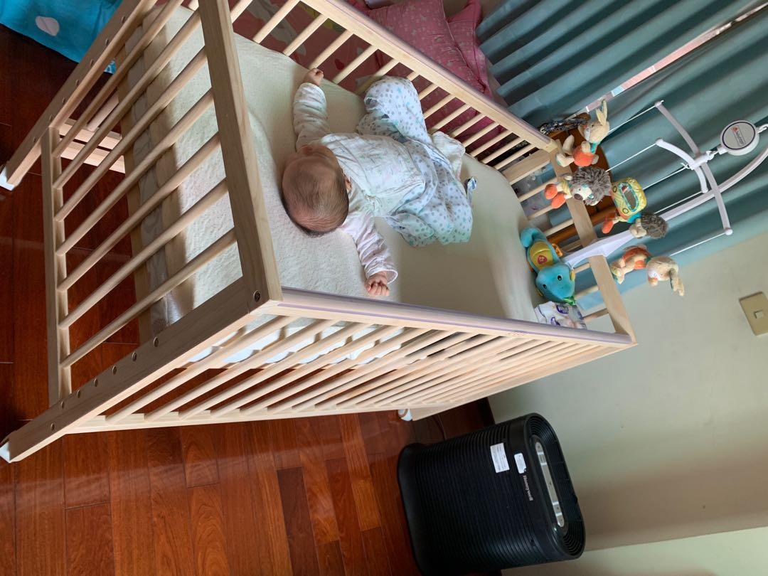 嬰兒床 床墊 音樂鈴 床圍