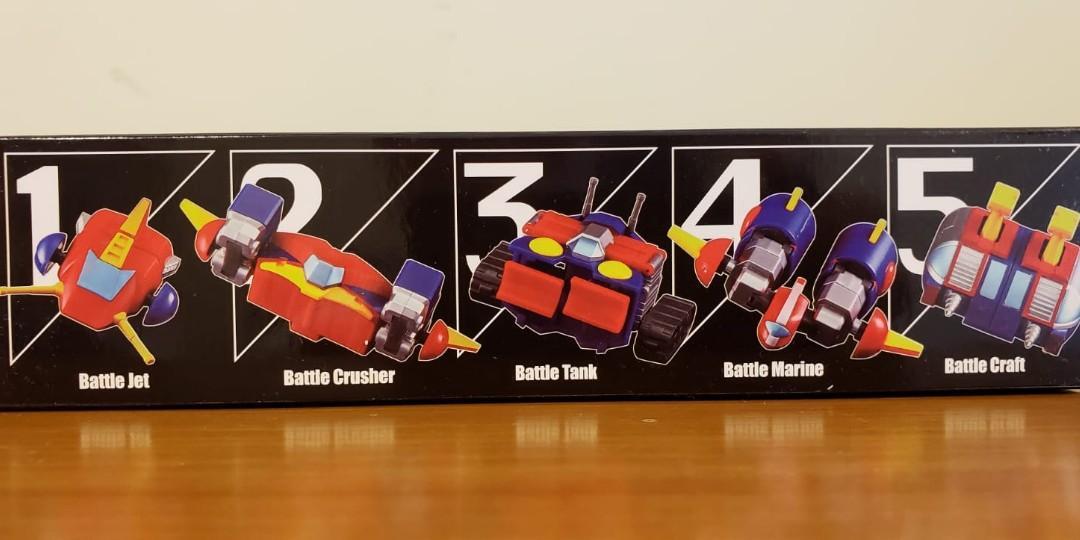 超力電磁俠 全新齊件 全套五機  完全變型合體 超可動 全高13cm