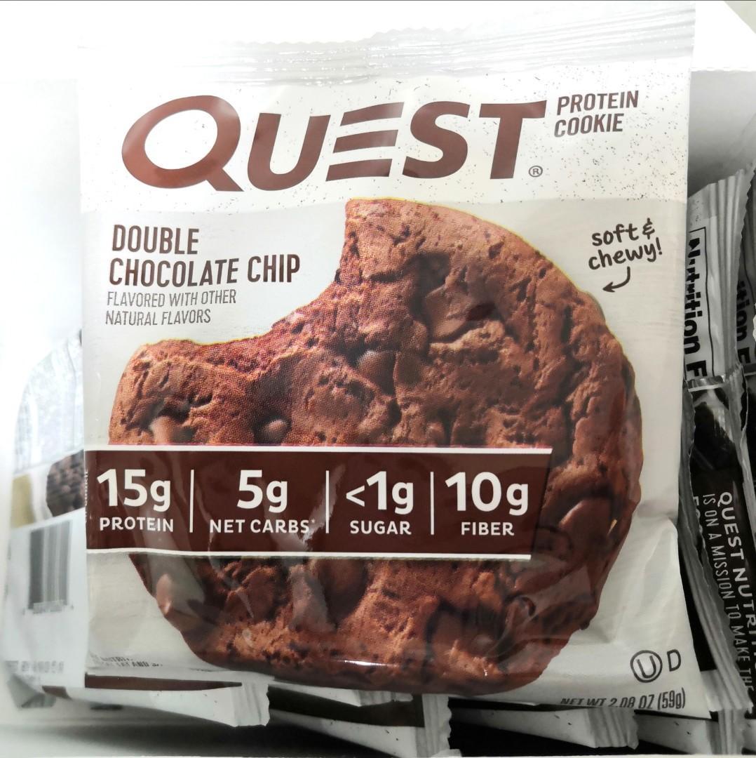 增肌 減肥 蛋白曲奇 朱古力 健康零食 Quest Protein Cookie Double Chocolate Chip 有十塊,可單買,詳細價錢請看介紹
