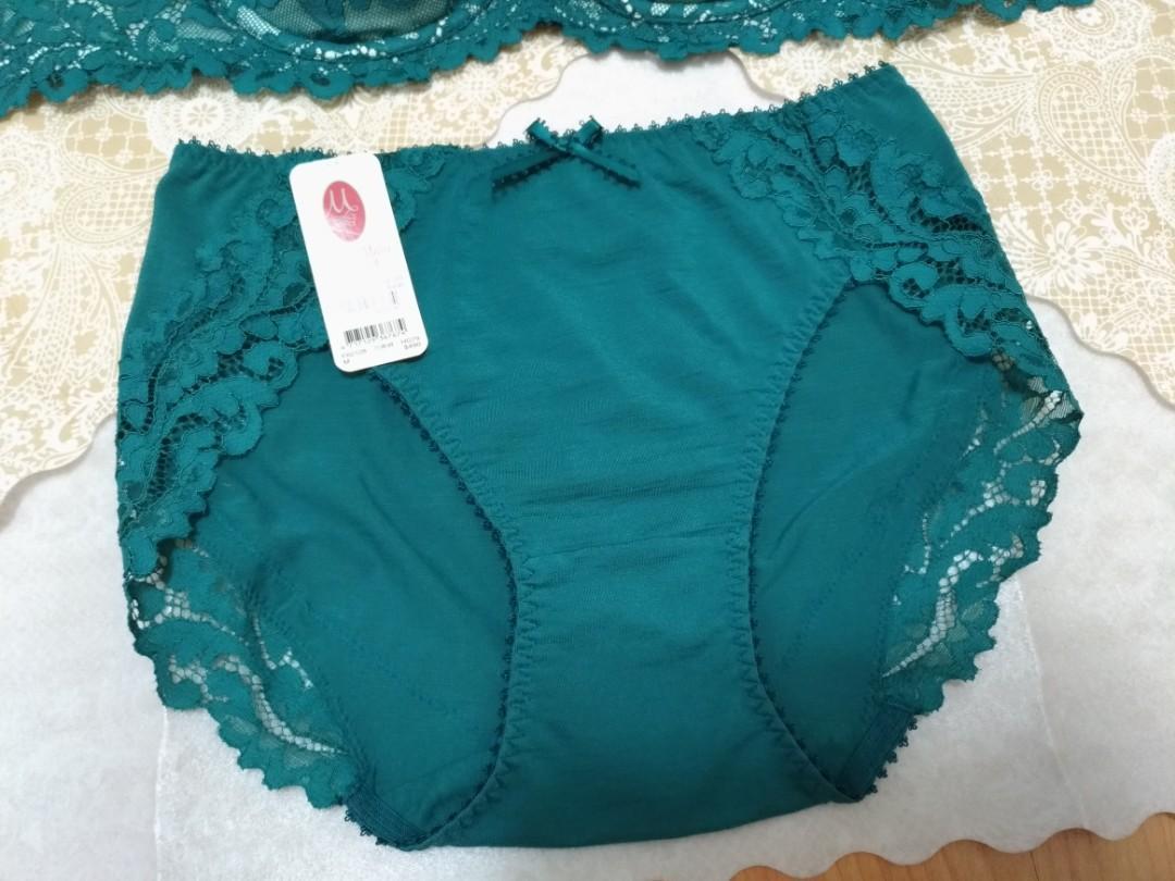 曼黛瑪璉 穿的保養品 內斂綠 三角棉內褲M 廣告熱銷