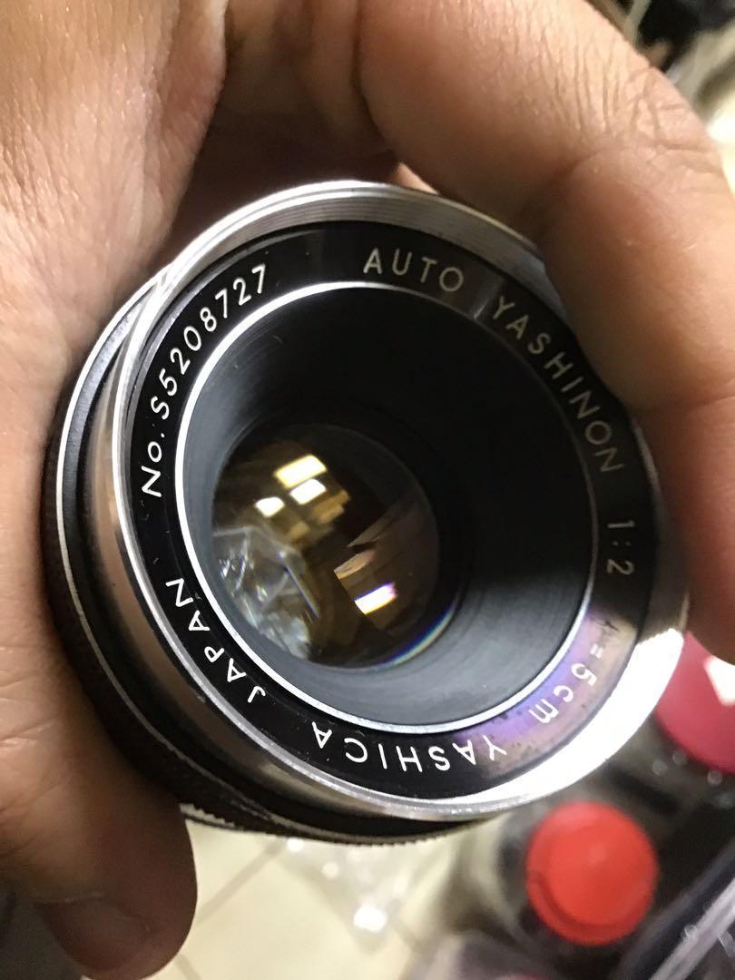 鏡頭 手動 稀有 yashica m42 含前蓋 無後蓋 鏡頭 50mm f2