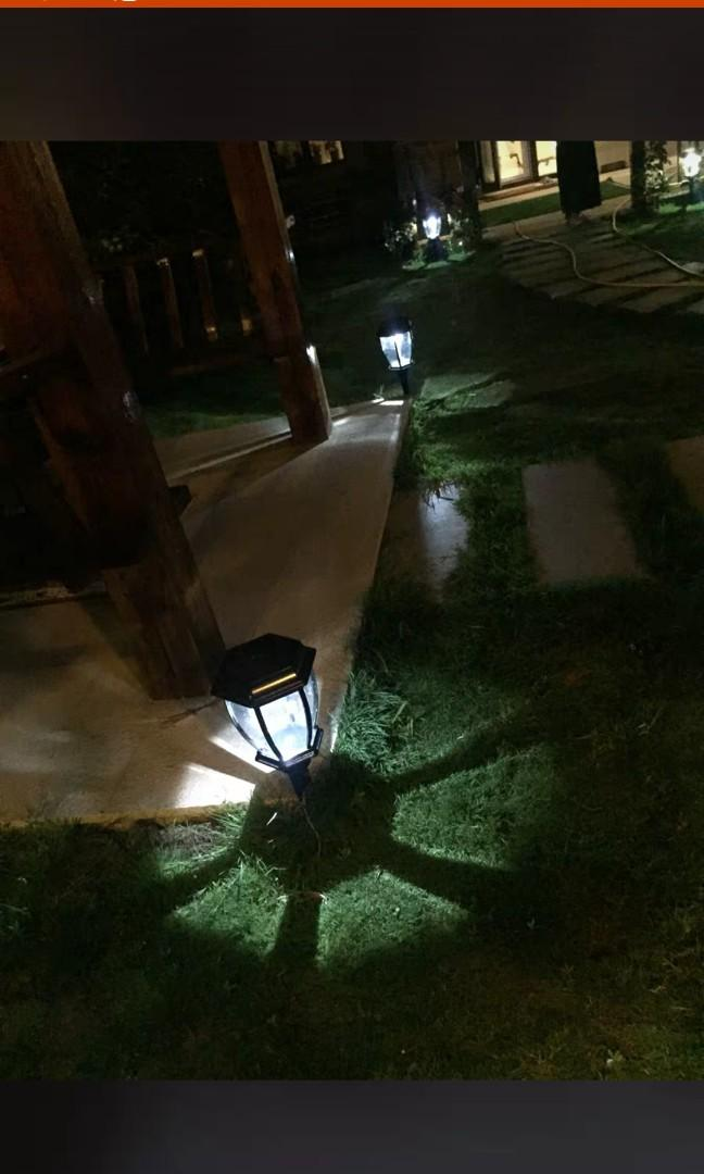 🌇太陽能草坪燈 led户外防水别墅花園歐式庭院燈 草地燈 室外家用路燈 高50公分 黑,古銅二可選 鋁鐵材質