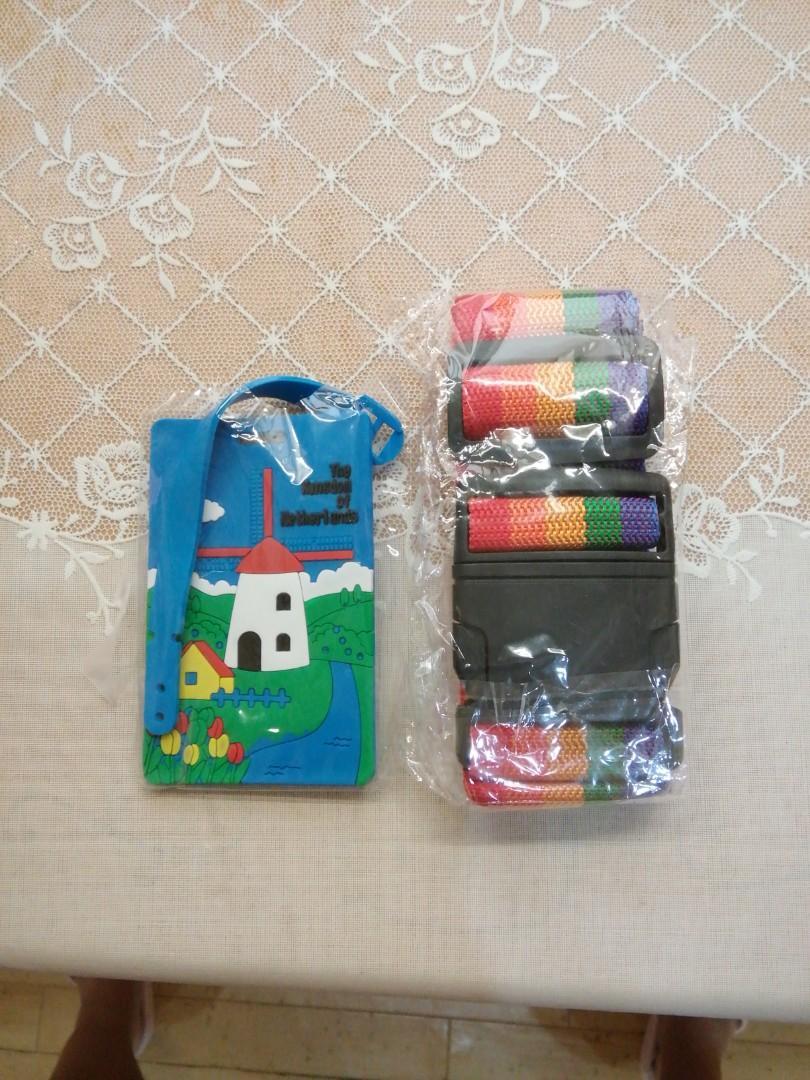 全新行李帶及行李牌 New luggage strip and luggage tag