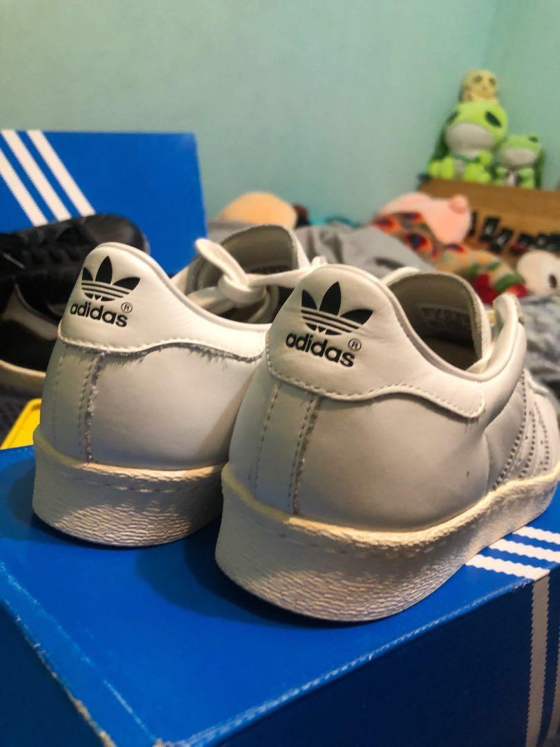 adidas superstar 80s DLx 全白金標