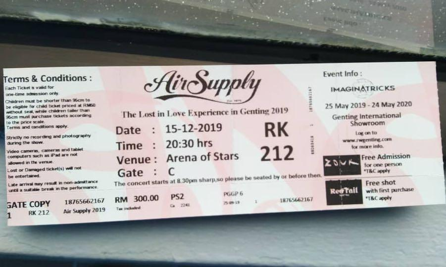 Air supply live in Genting