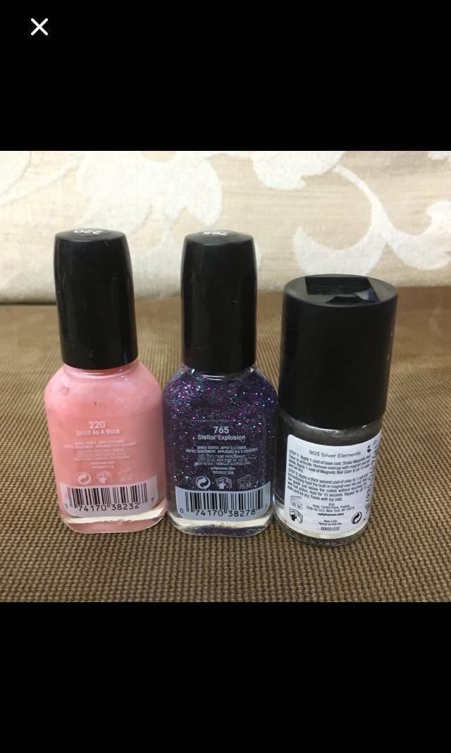 All 3 are new   Sally Hansen nail polish 指甲油