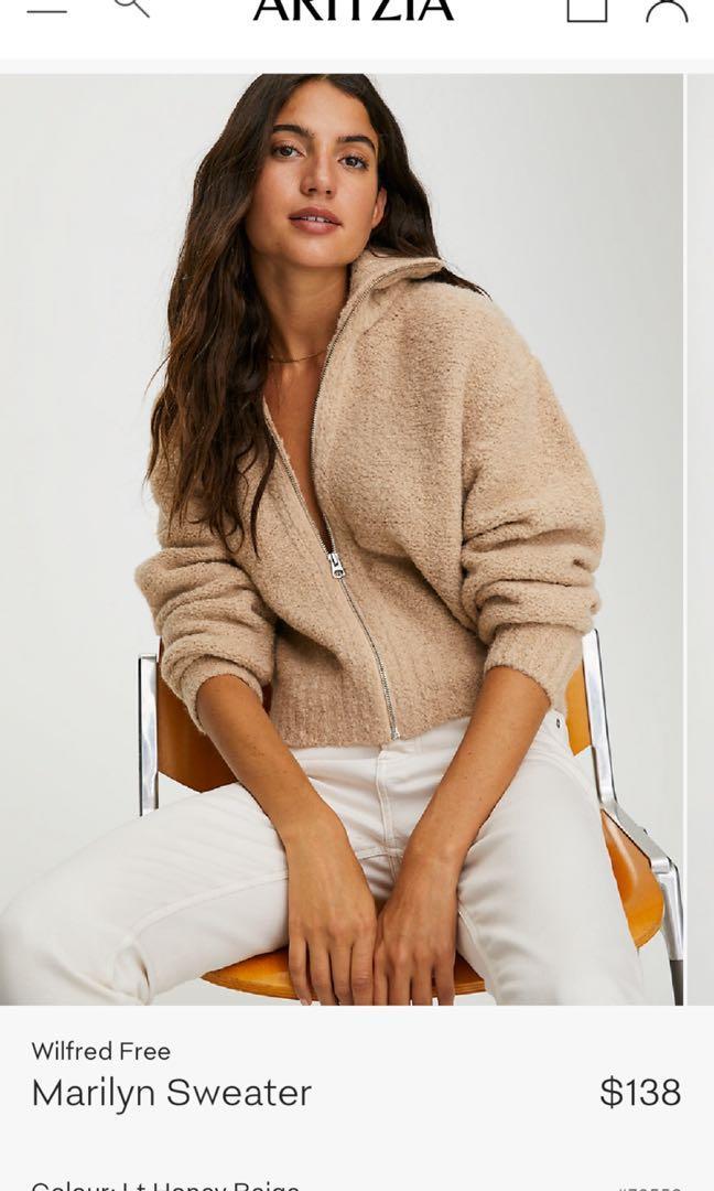 Aritzia Marilyn sweater size S in pink