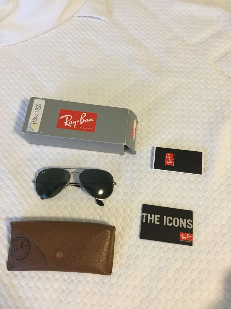 Authentic Ray Ban aviator sunglasses sz 58 ORB3025