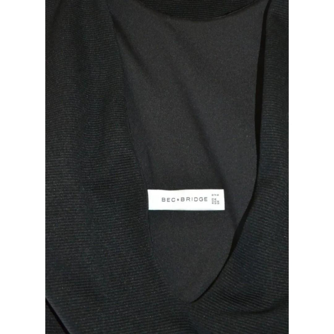 BEC AND BRIDGE SNAKE CHARMER BLACK REVERSIBLE TEXTURED BODYCON DRESS *NEW* 6