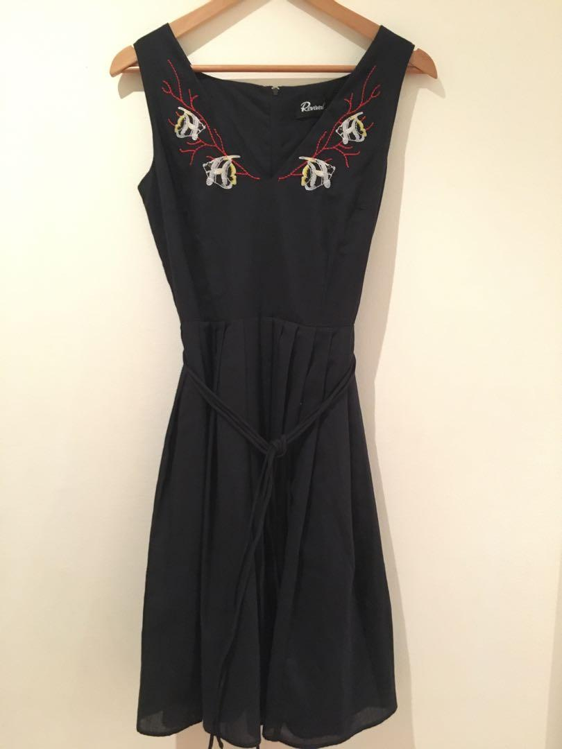 BNWT Revival beneath the sea dress in black size 8 Dangerfield Princess Highway