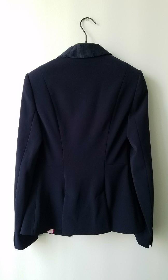 BNWT Ted Baker Silk Interior Midnight Navy Blazer Jacket