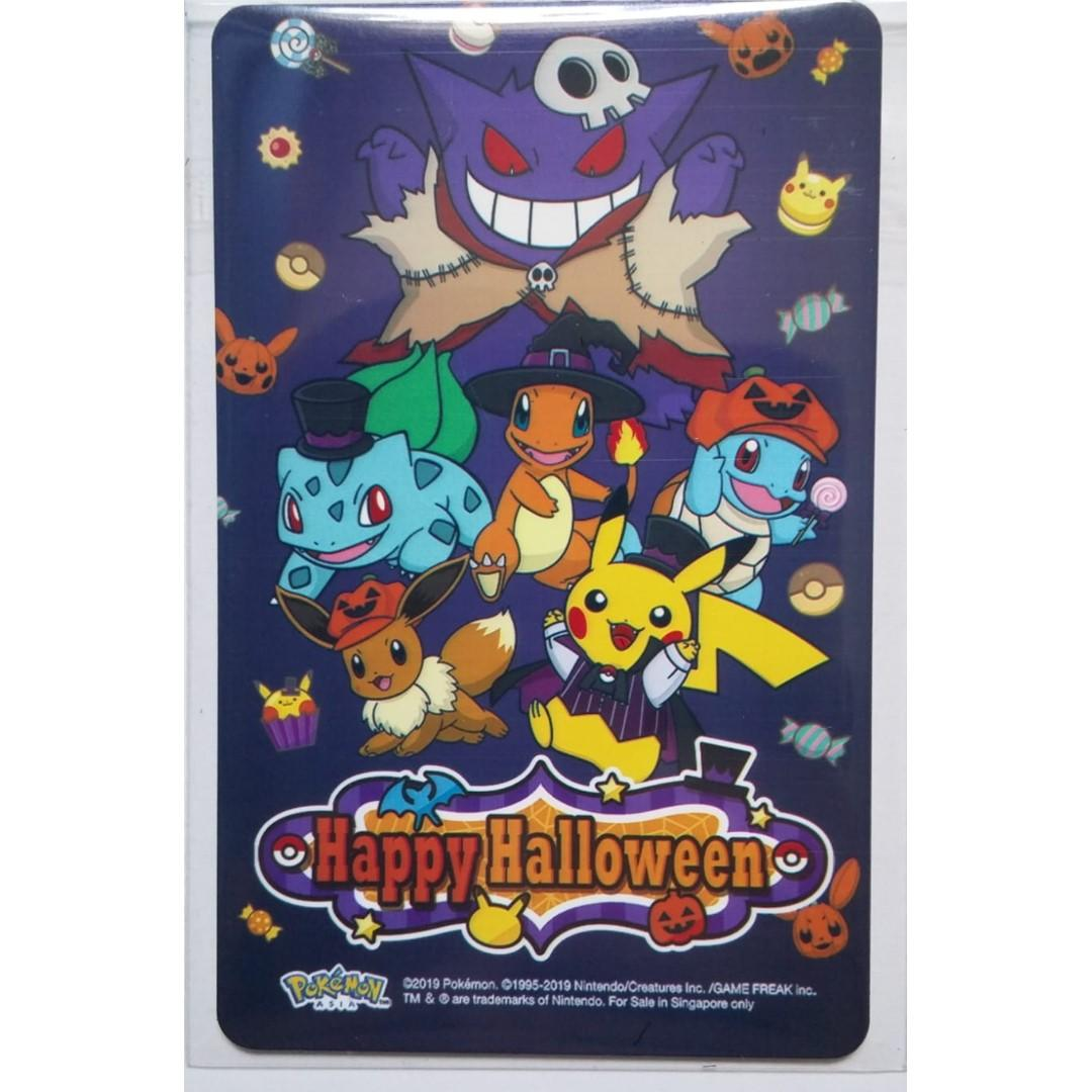 Brand NEW Pokemon 2019 Happy Halloween theme ezlink card