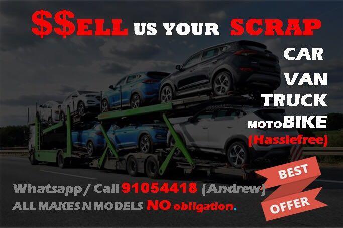 WTB: Buy your scrap/ export/ used car bike van wanted. Door step viewing. .