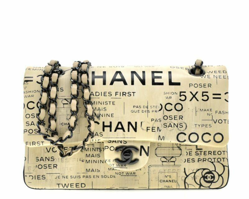 Chanel Limited Edition Newspaper Print Cross Body Bag