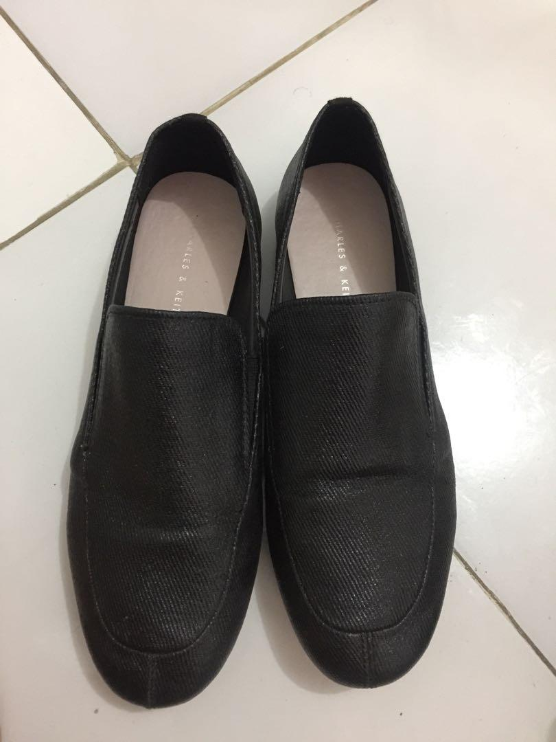 Charles and Keith Black Shoes (wear 1x only) size 37