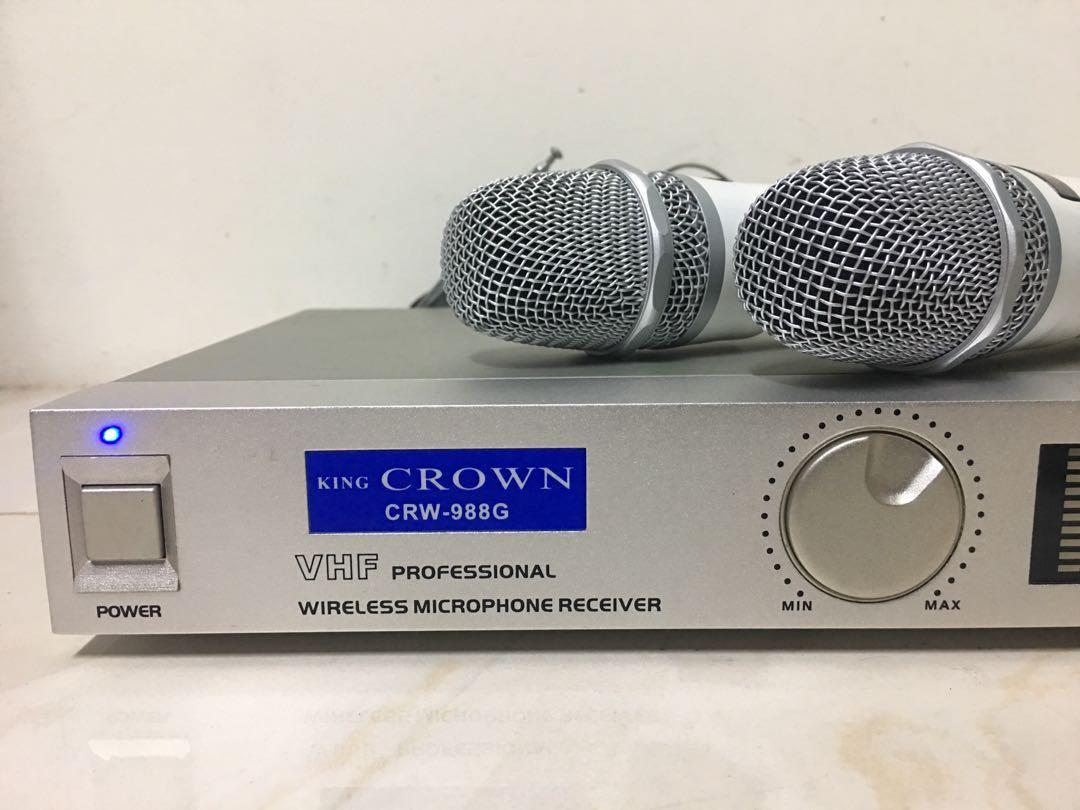 Crown wireless microphone 日本皇冠無線麥克風