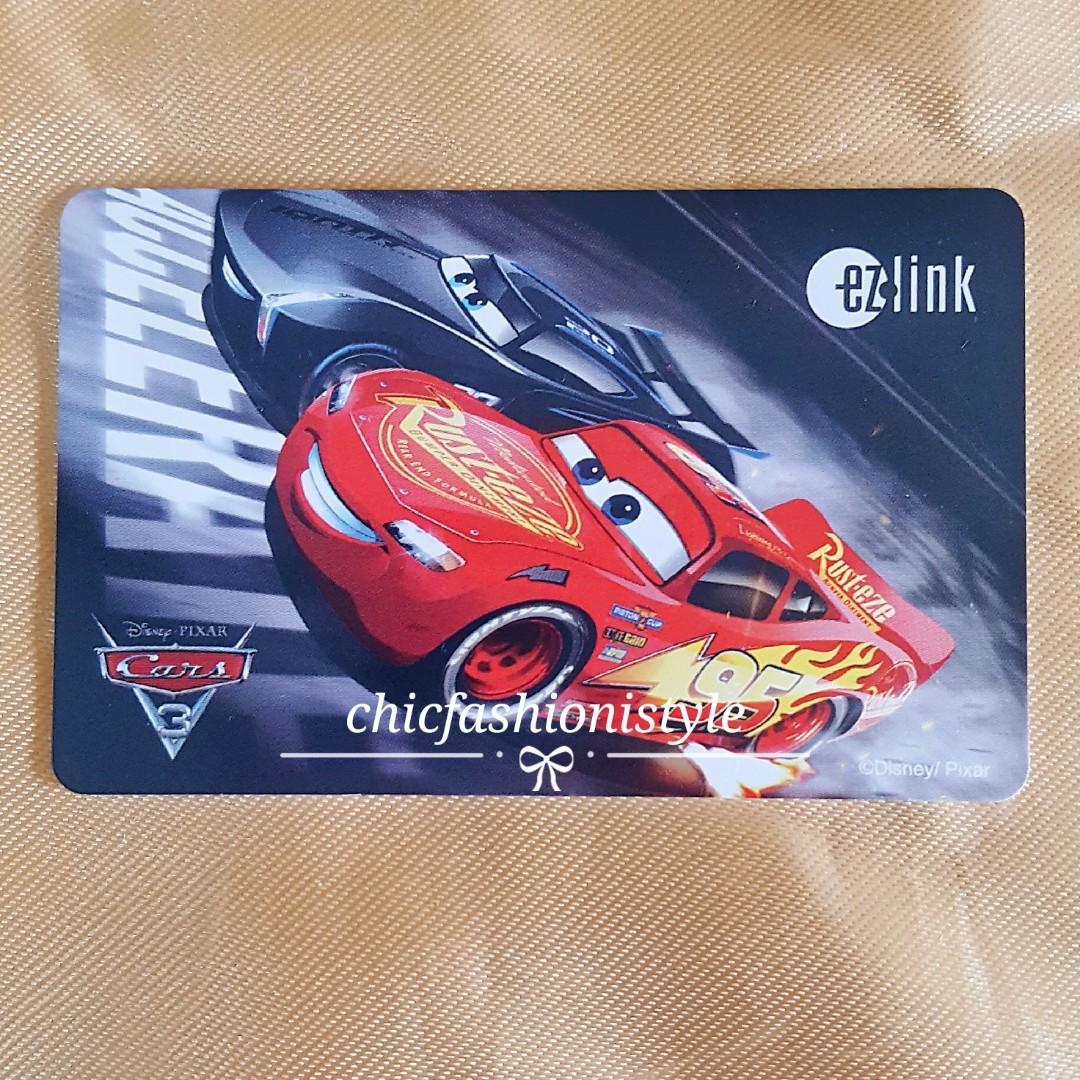 BN  DISNEY PIXAR CARS 3 EZLINK CARD