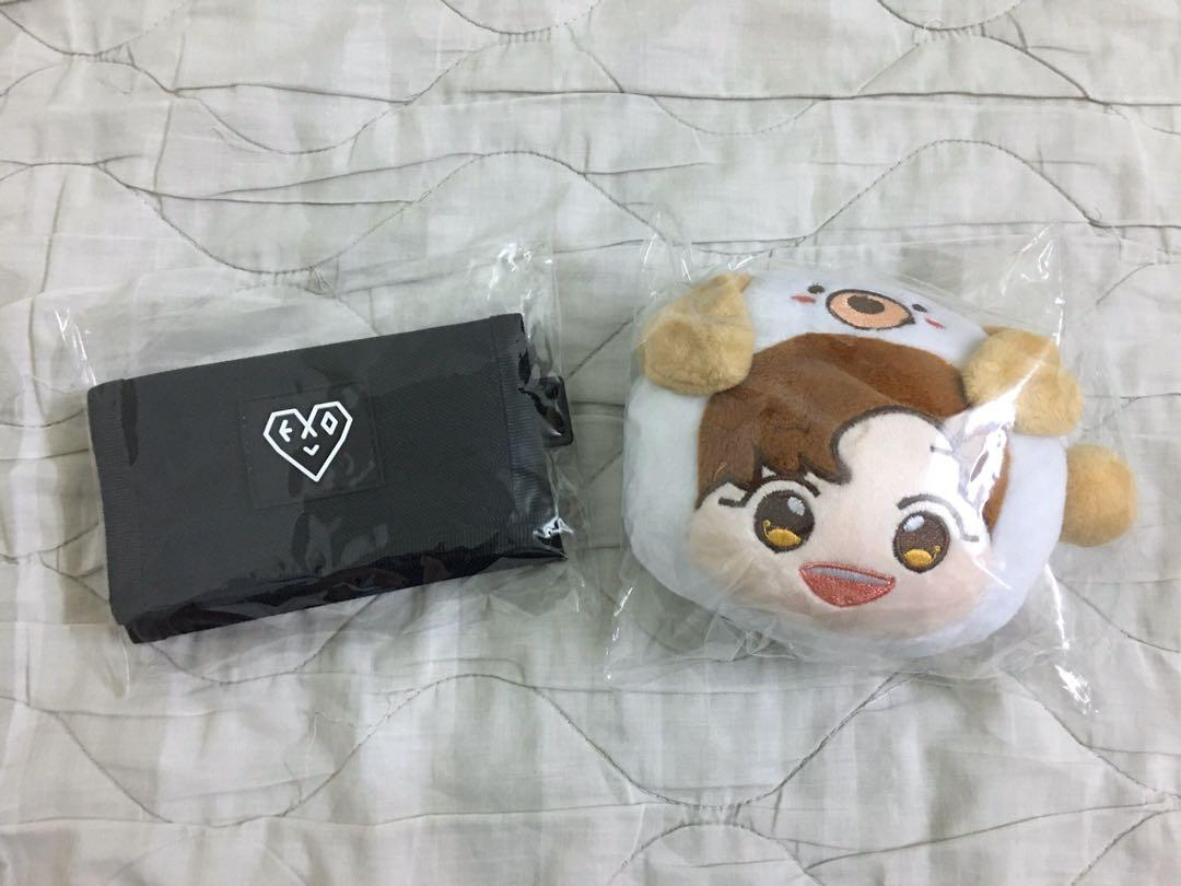 EXO L Fanclub Official Wallet & Chanyeol Pouch