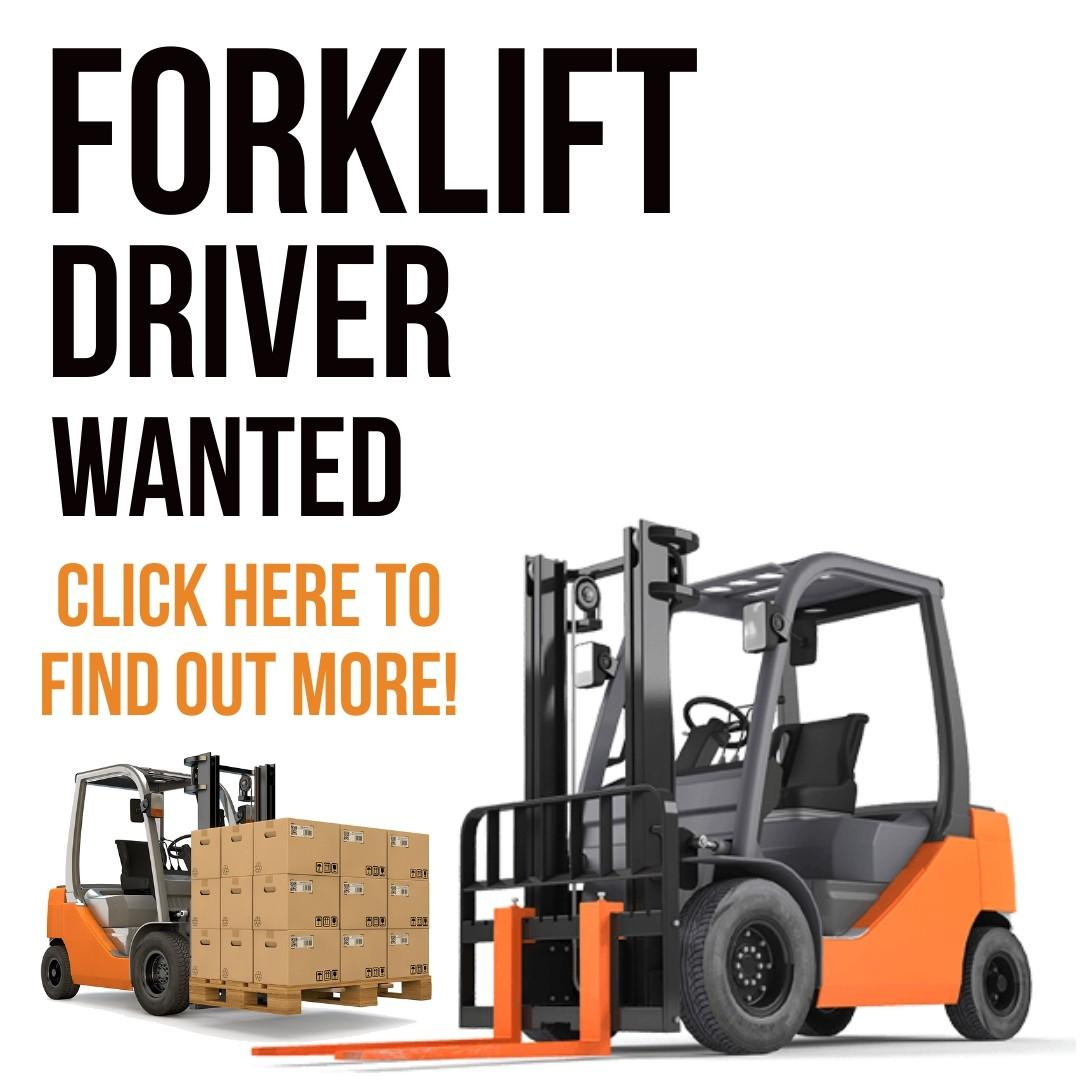 Forklift Driver (5 Day Work   2 Weeks Salary   Immediate)