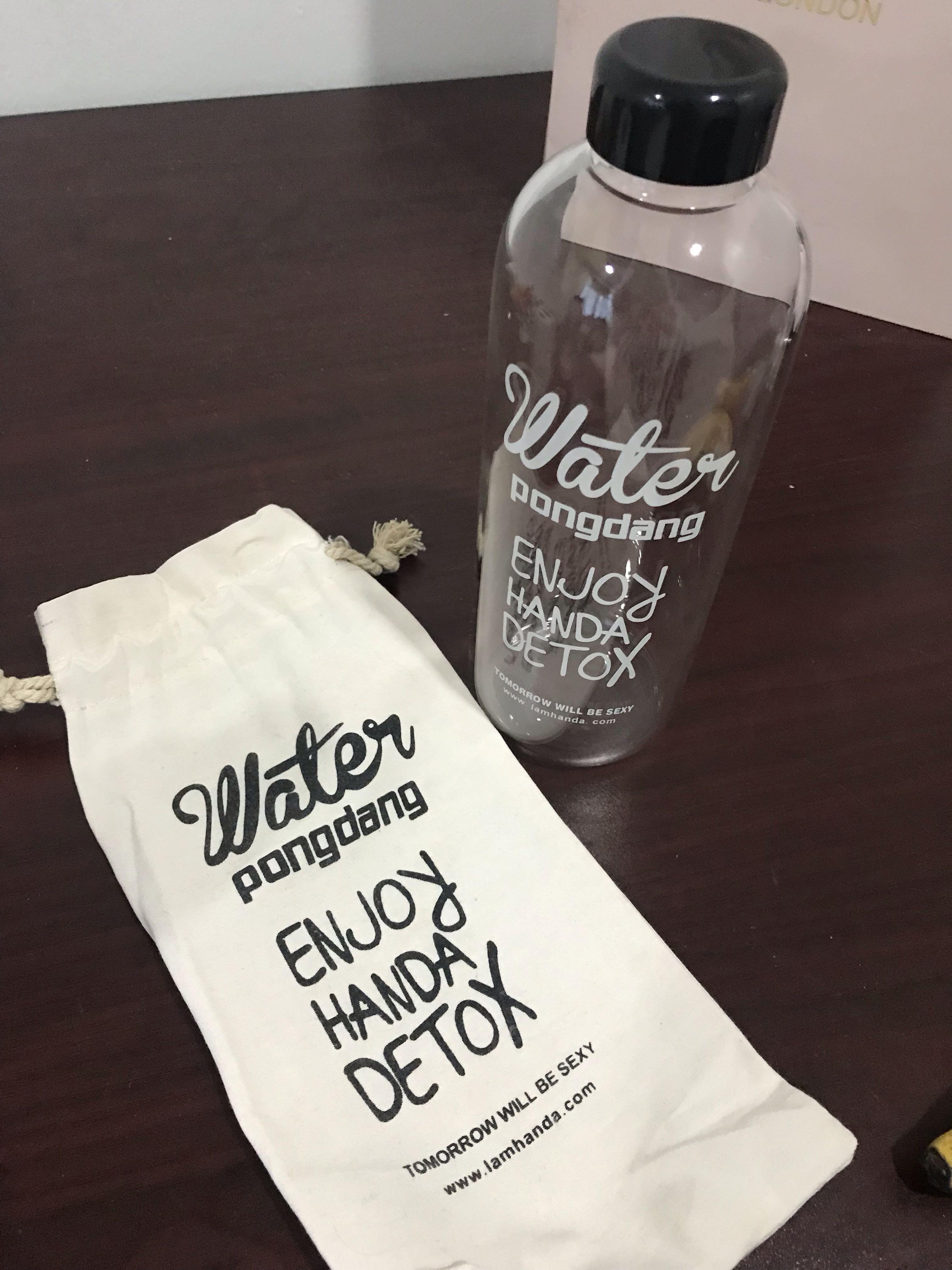 Glass Water Bottle 1L