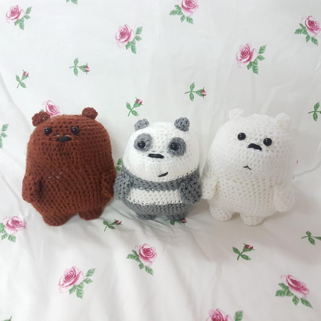 Ravelry: We Bare Bears Amigurumi pattern by Nicole Trovato | 1080x1080