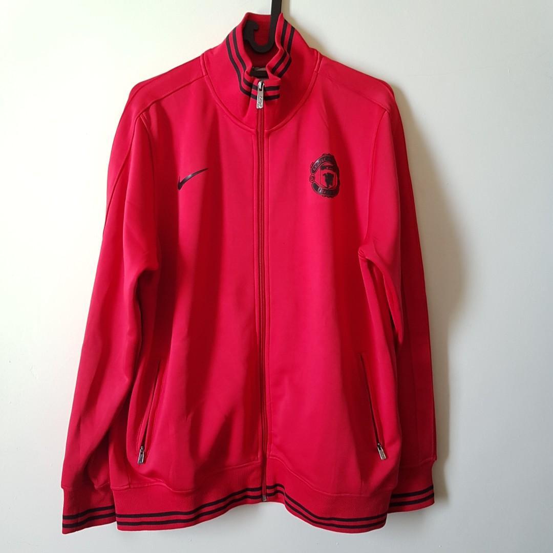 Jaket Bola MU Nike Ori Size L