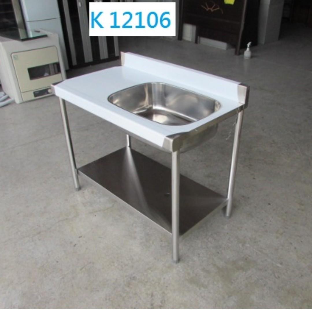 K12106 右洗 不銹鋼 平台水槽 洗手台 流理台 不鏽鋼水槽 水槽 @ 聯合二手倉庫,二手資源回收,展示櫃 櫃檯,推薦 家具回收,台北二手家具