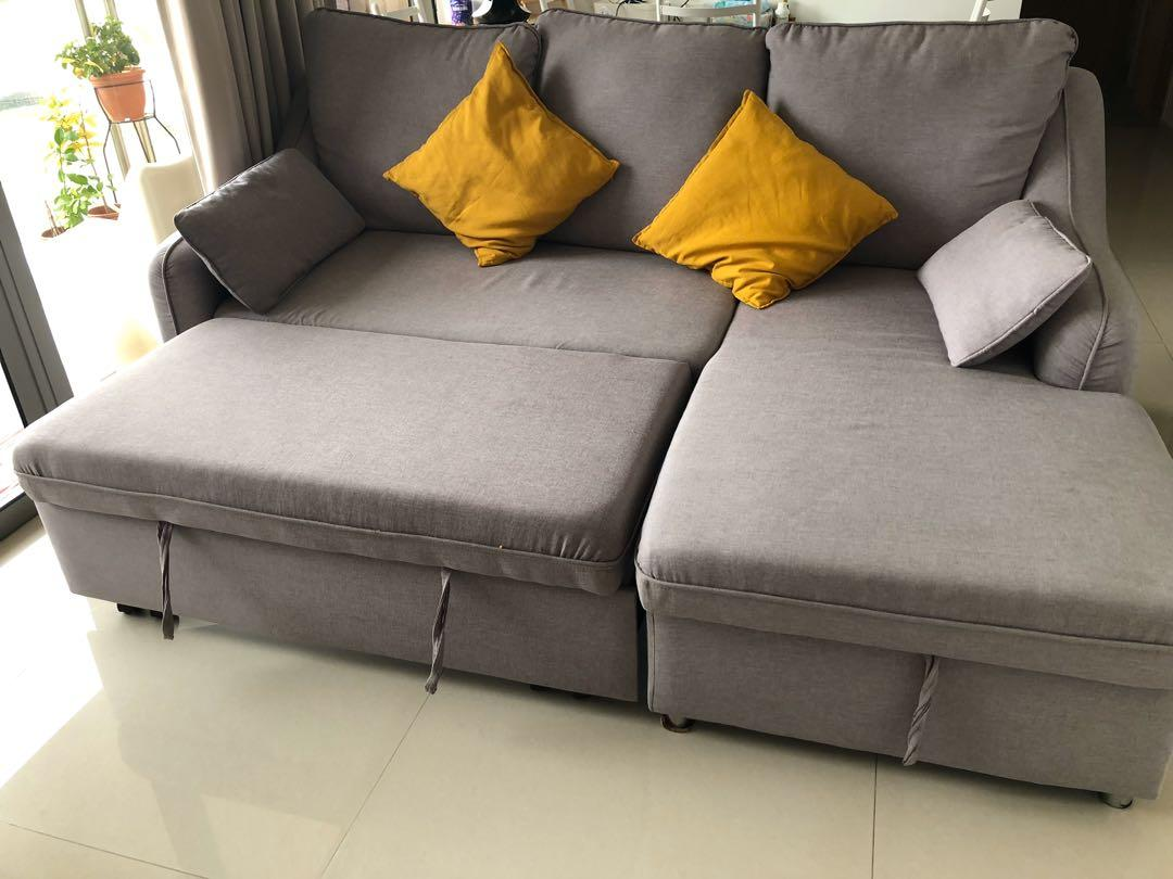 Picture of: L Shaped Sofa Come Bed Furniture Sofas On Carousell