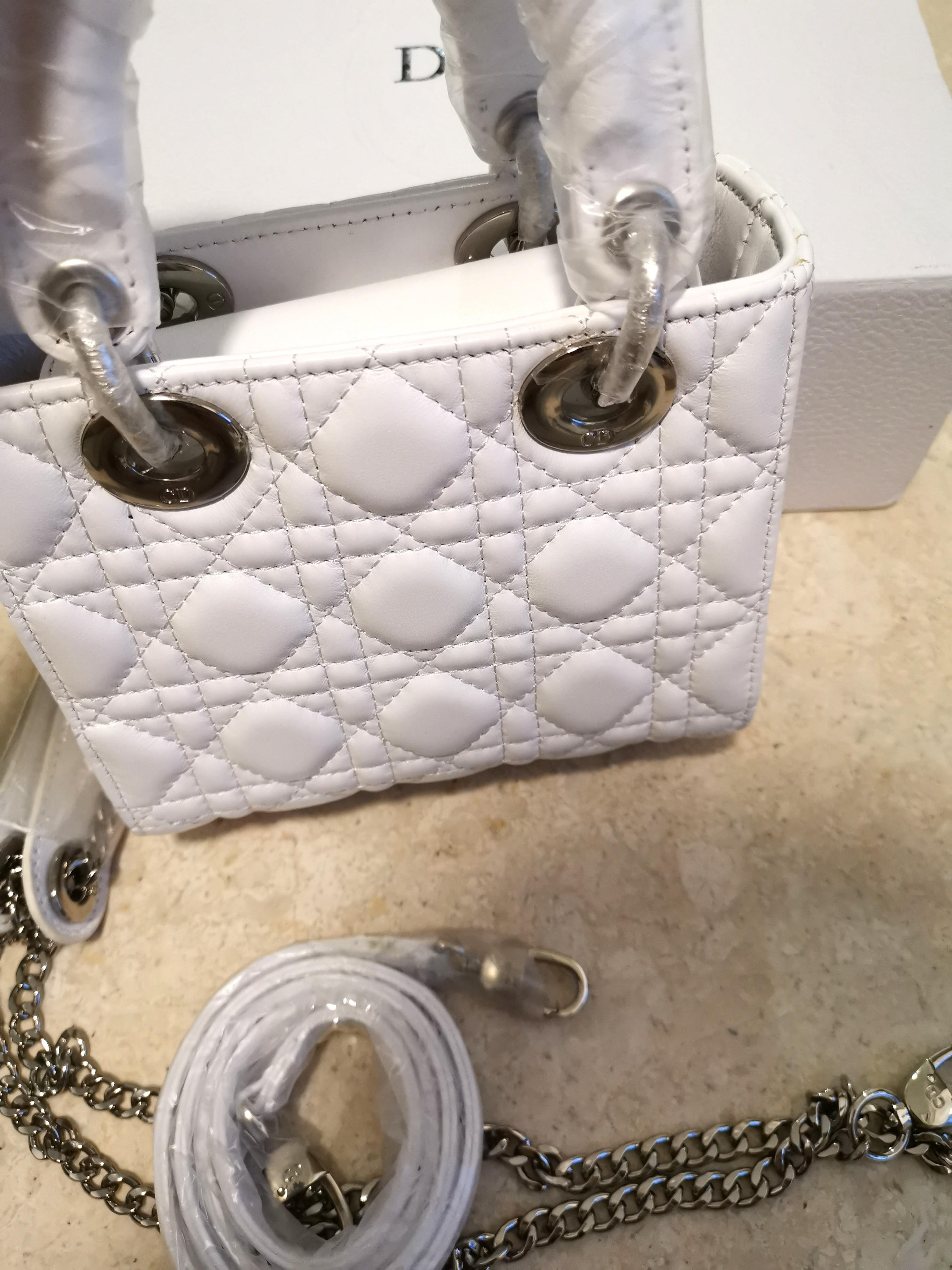 Lady Dior White Small 18 cm