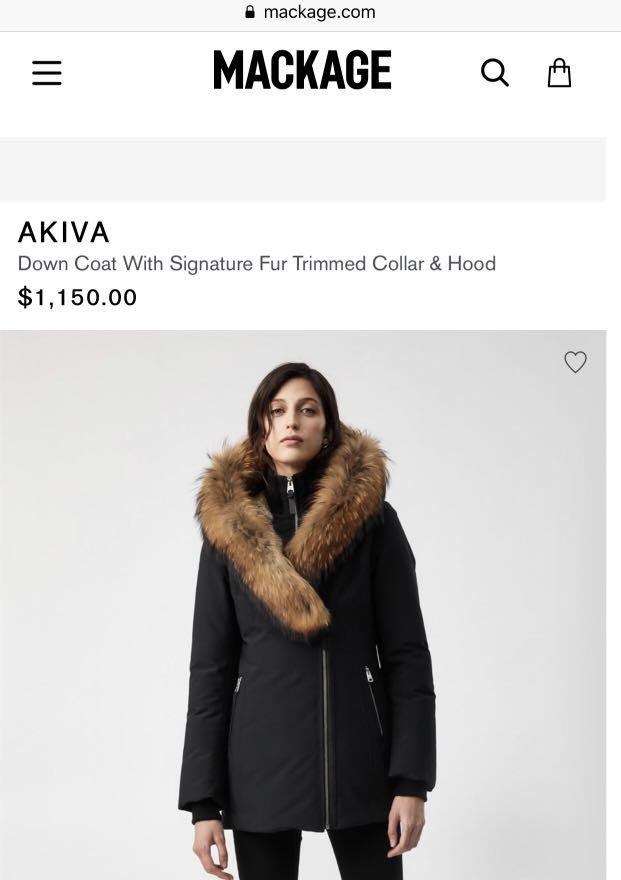SMALL Mackage Akiva w/ Signature Fur (read description)