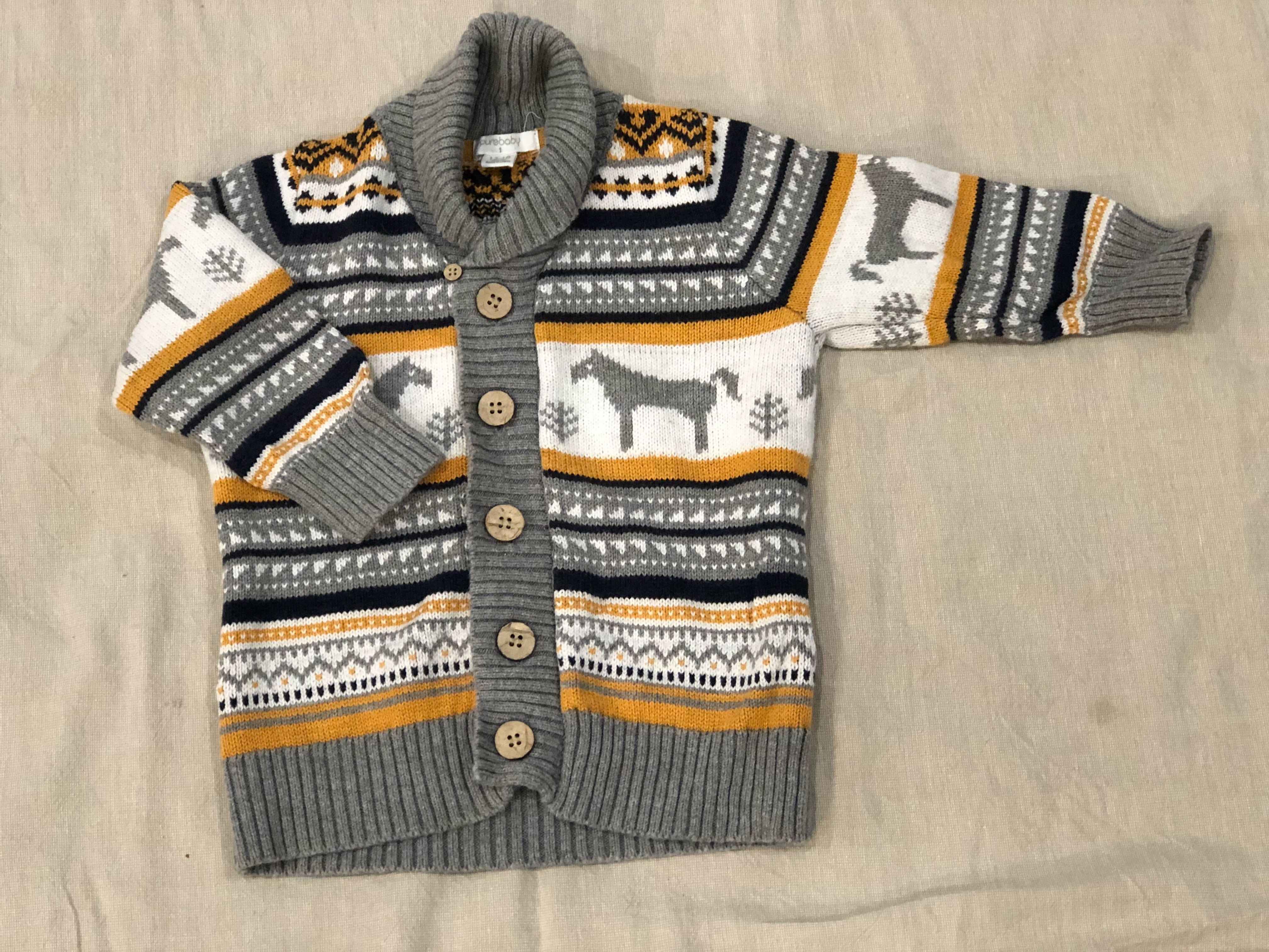 Pure Baby | 12-18 month | boys cardigan