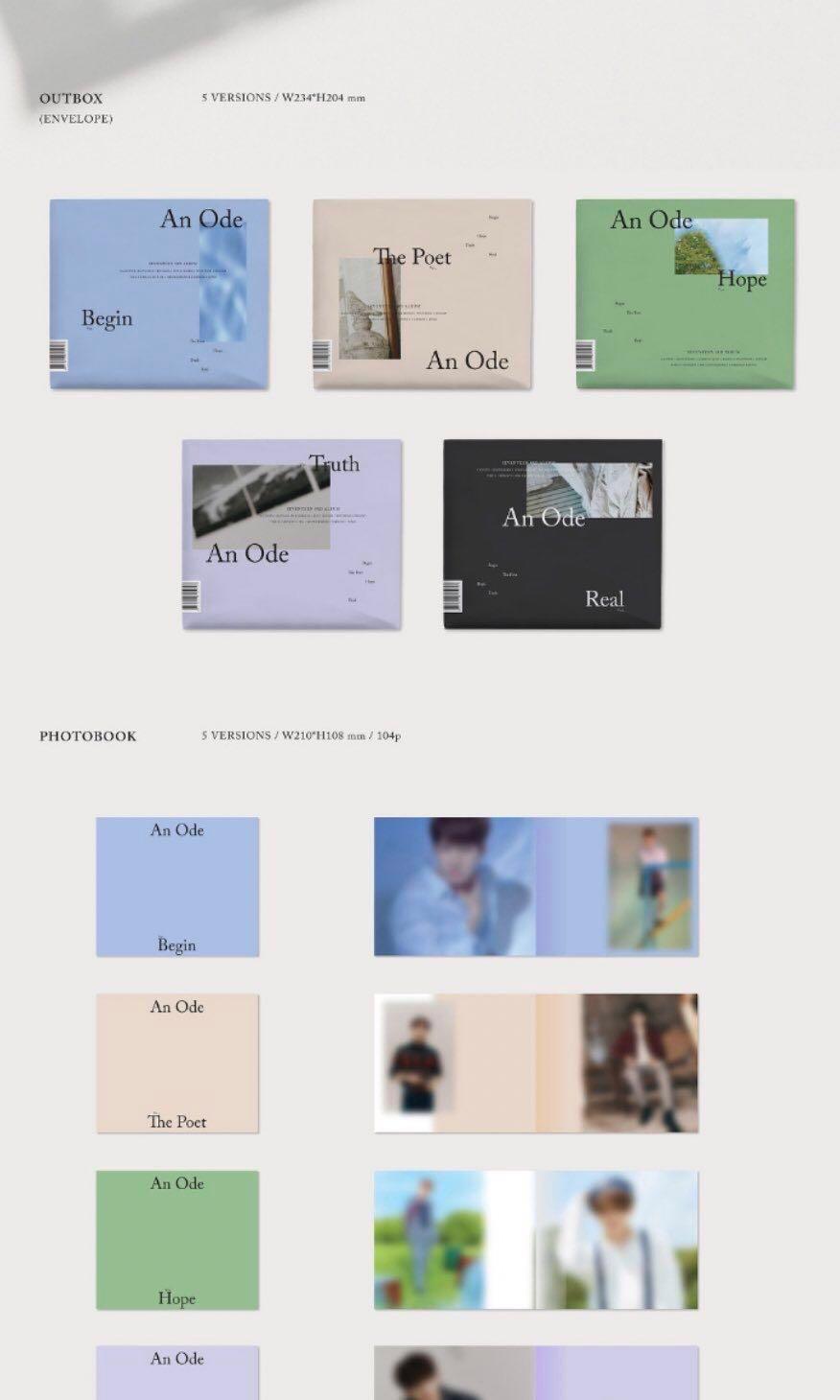 {READY STOCK} Seventeen 3rd Album AN ODE Begin version