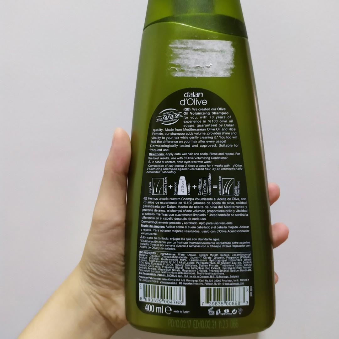 Shampoo Olive Oil without SLS, paraben dalan d'Olive