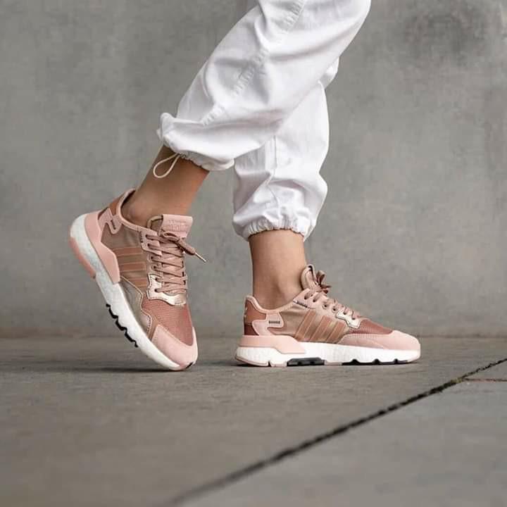 adidas nite jogger rose gold metallic