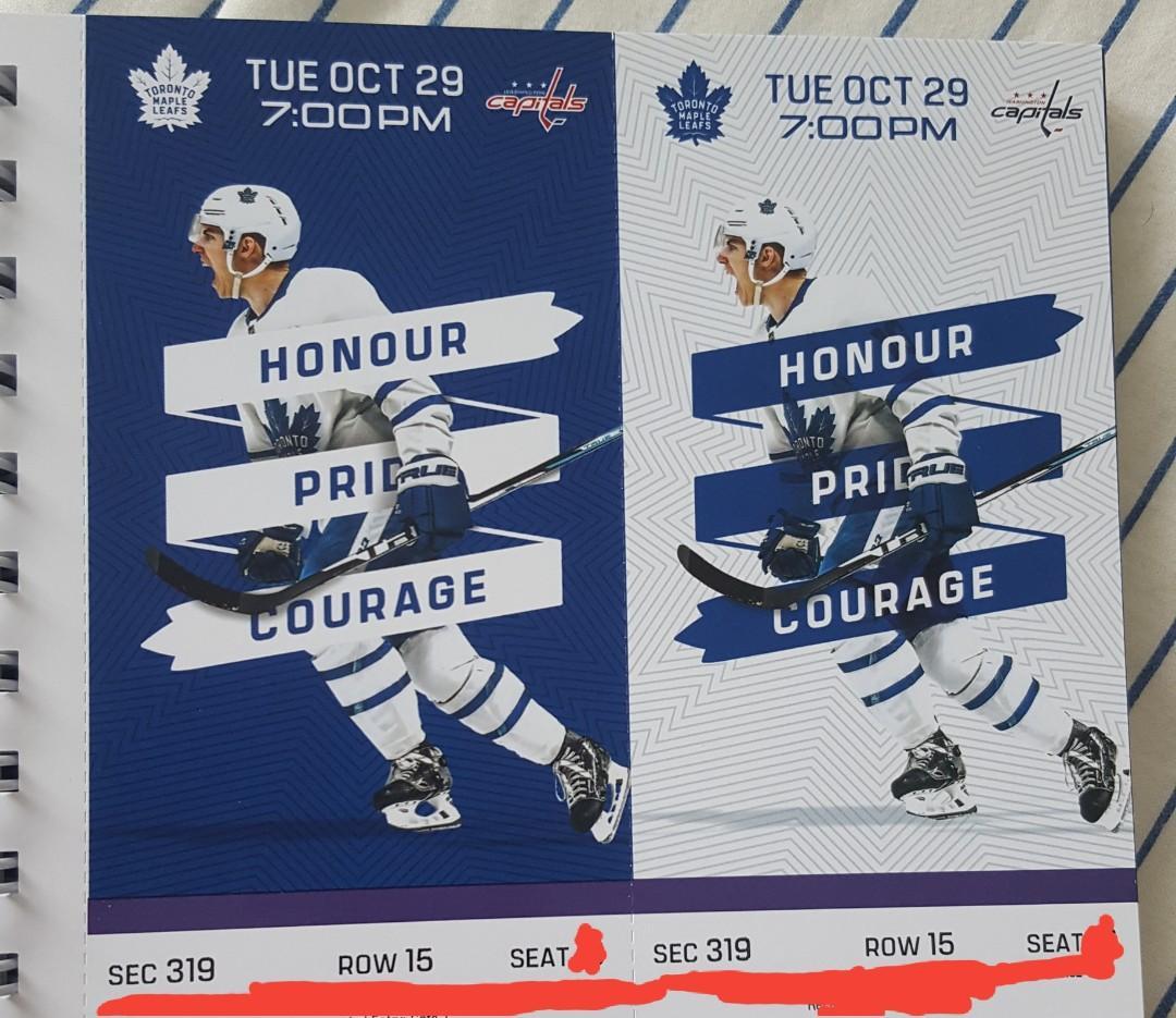 Toronto Maple Leafs vs Washington Capitals tickets - Tues Oct 29