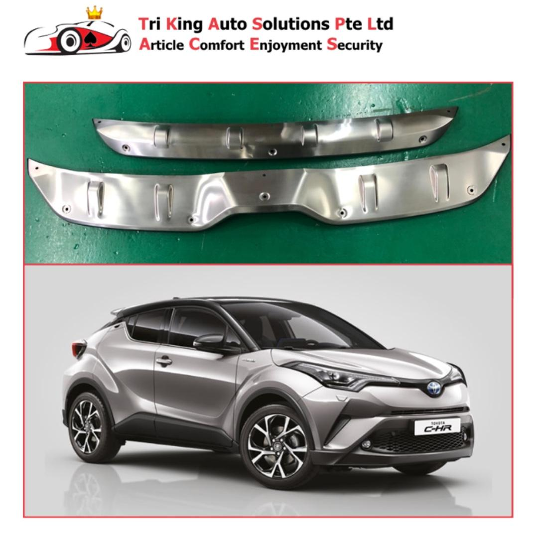 Toyota CHR Stainless Steel Front & Rear Guard Plate / 2016 - 19