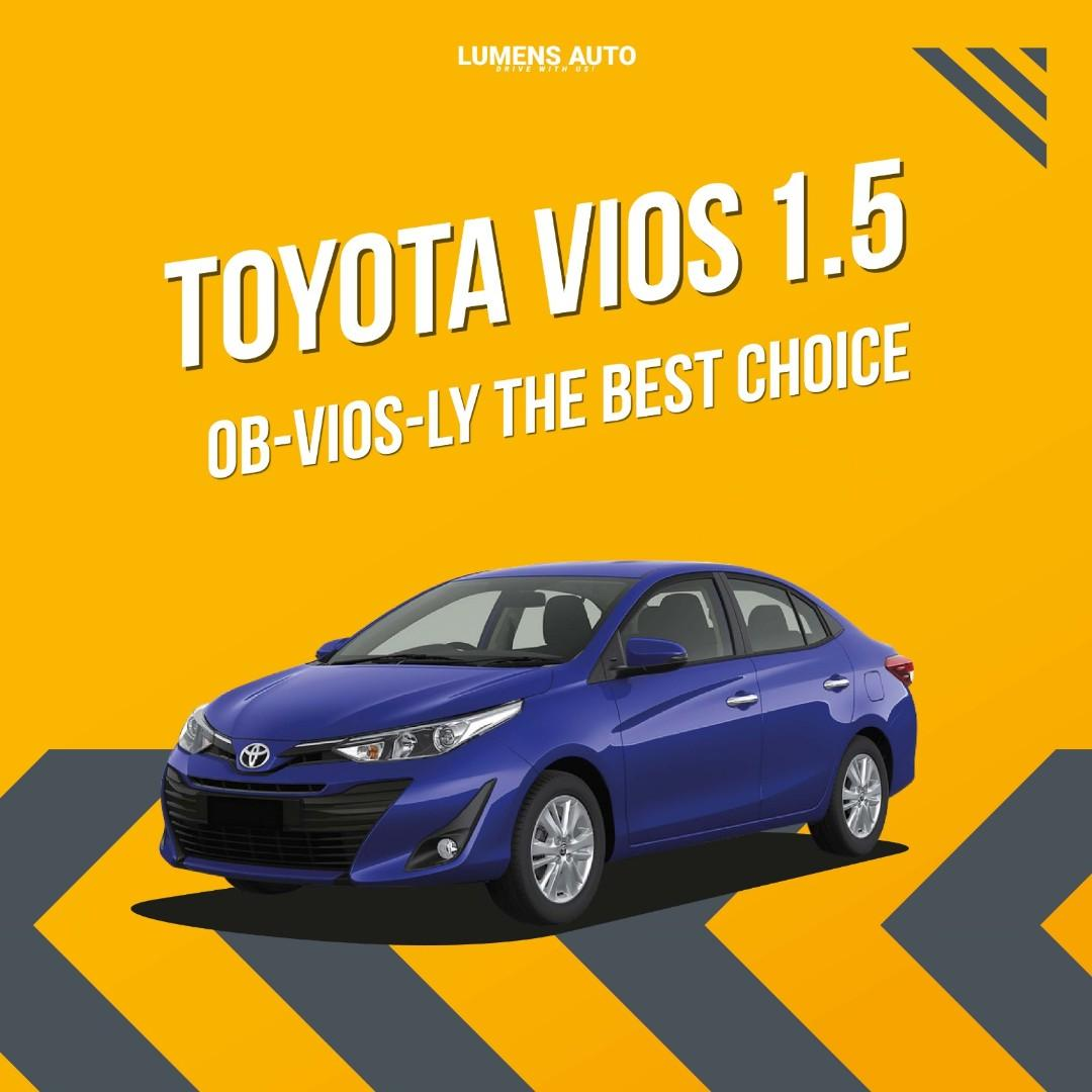 Toyota Vios for Rent Grab/ Gojek Use Grab While Stock Last!!