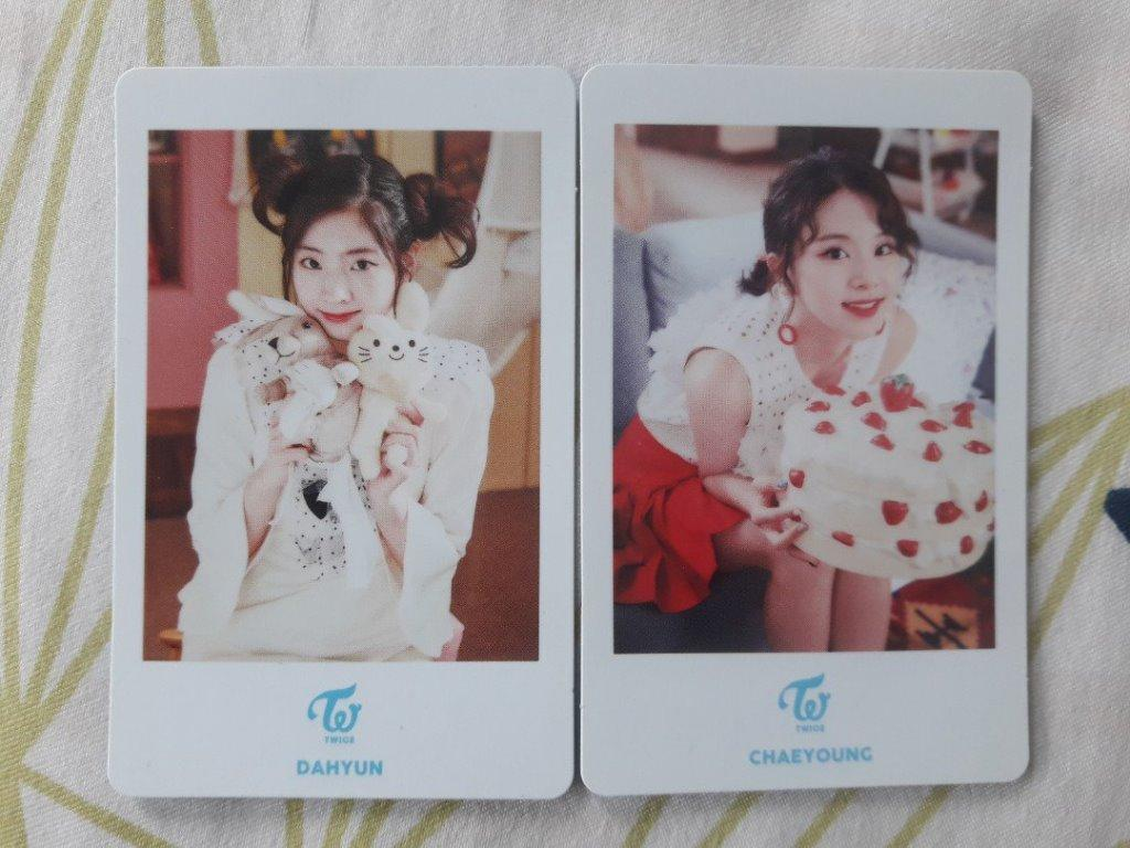Twice Candy Pop Dahyun and Chaeyoung Japan Showcase Photocards