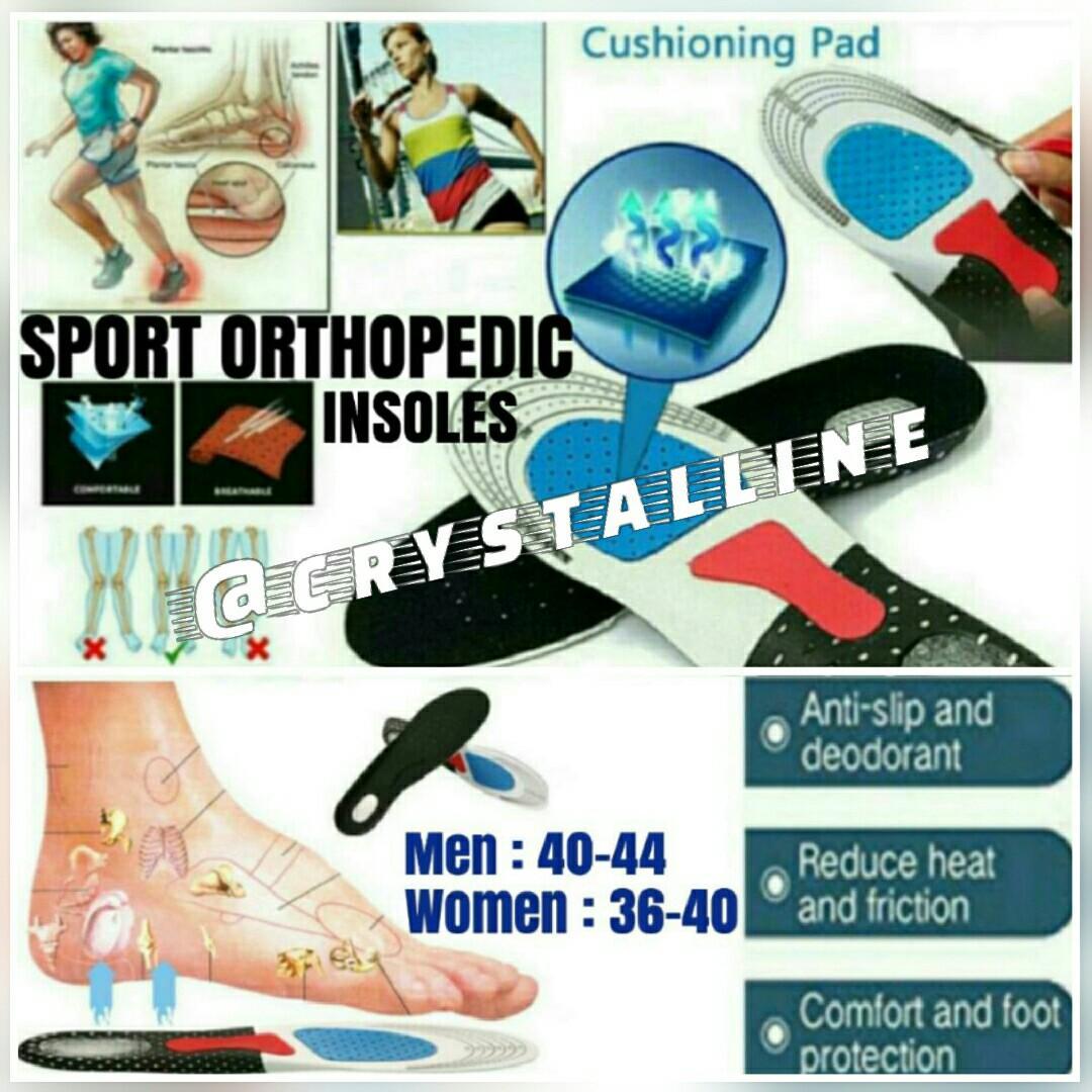 Men Women Gel Orthotic Sport Running Insole Insert Shoe Pad Support Cushion