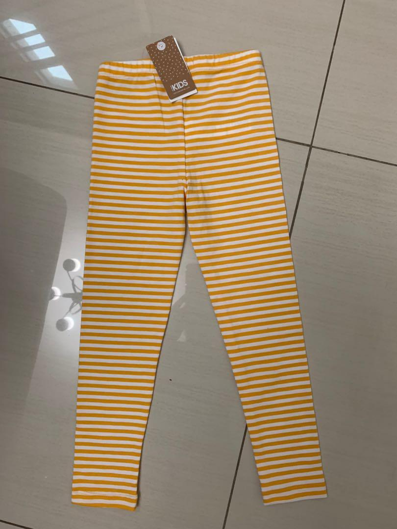Yellow stripy legging