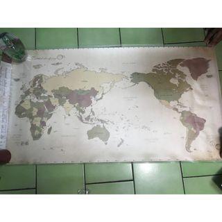 indigo-indimap 環遊世界世界地圖海報(雙層)