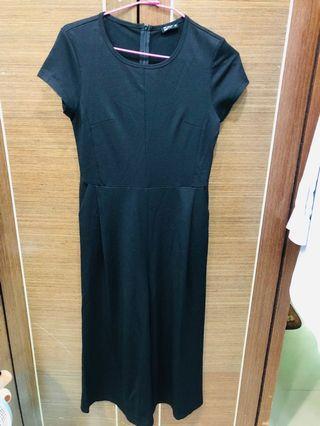 🎀長版連身短袖寬褲🎀(黑)