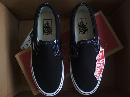 VANS SLIP ON CLASSIC BLACK WHITE ORIGINAL
