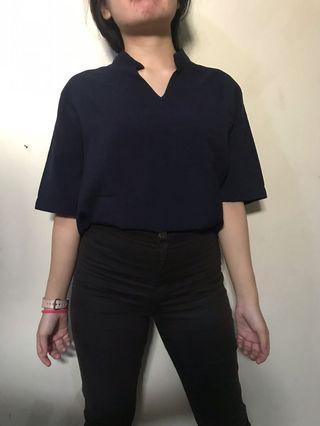 Blue blouse korean